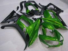 Комплект пластика для мотоцикла Kawasaki Z1000SX 11-17 Зелёно-Черный