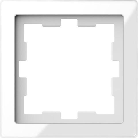 Рамка на 1 пост. Цвет Белый кристалл. Merten D-Life System Design. MTN4010-6520