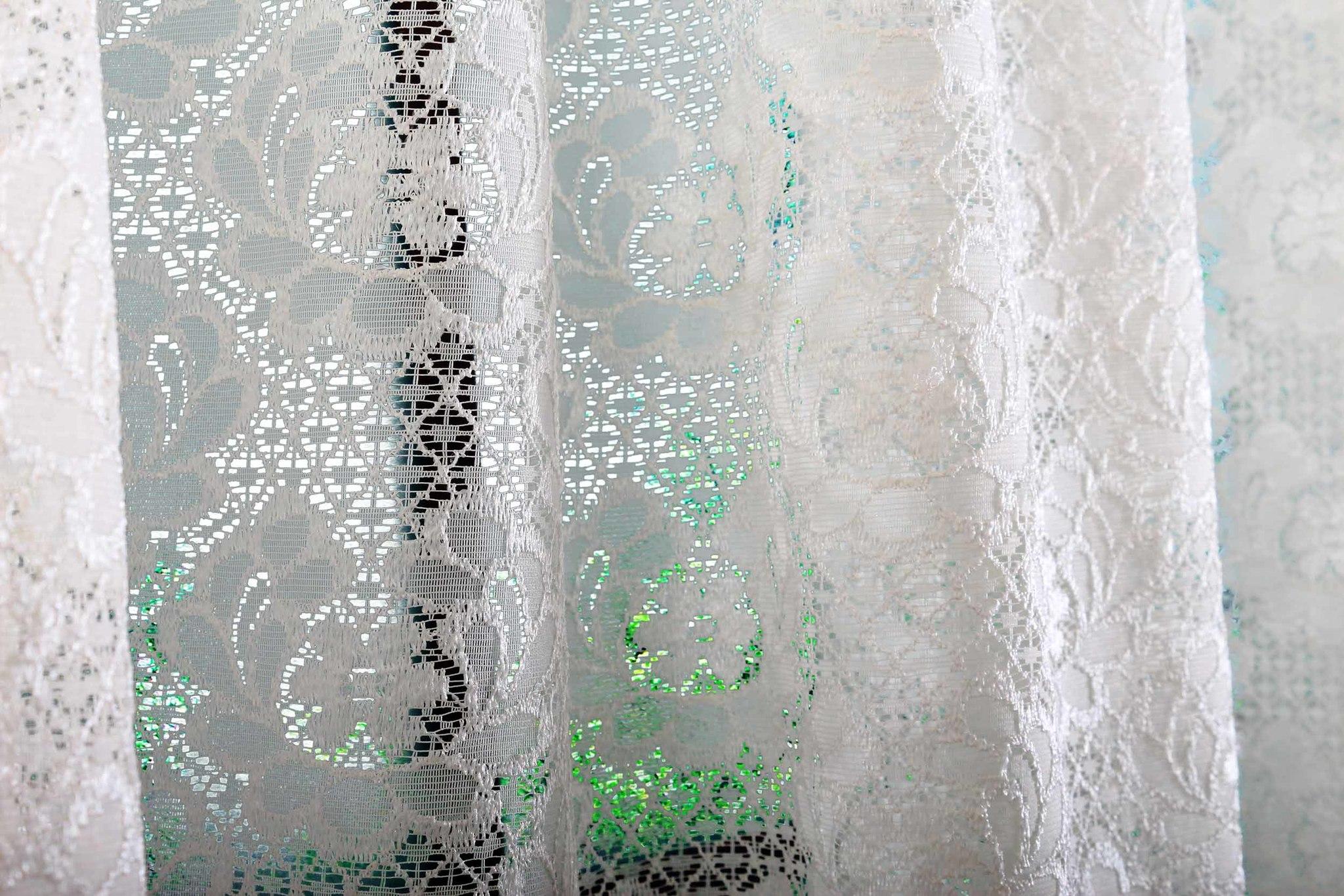 Тюль со стеклярусами. Селена (крем)