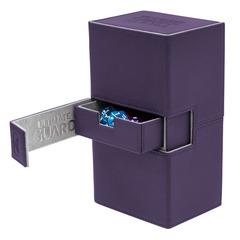 Ultimate Guard - Кожаная фиолетовая коробочка с отделением для кубиков на 200 карт