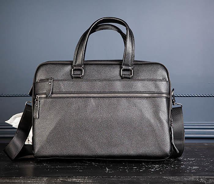 BAG535-1 Кожаная мужская сумка портфель фото 04