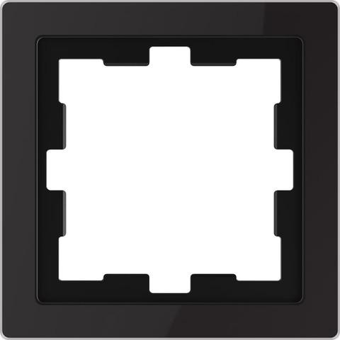 Рамка на 1 пост. Цвет Черный оникс. Merten D-Life System Design. MTN4010-6503