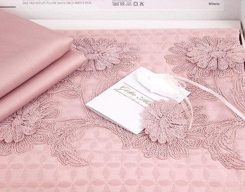 Постельное белье Gelin Home MILANO JAKARLI розовый евро