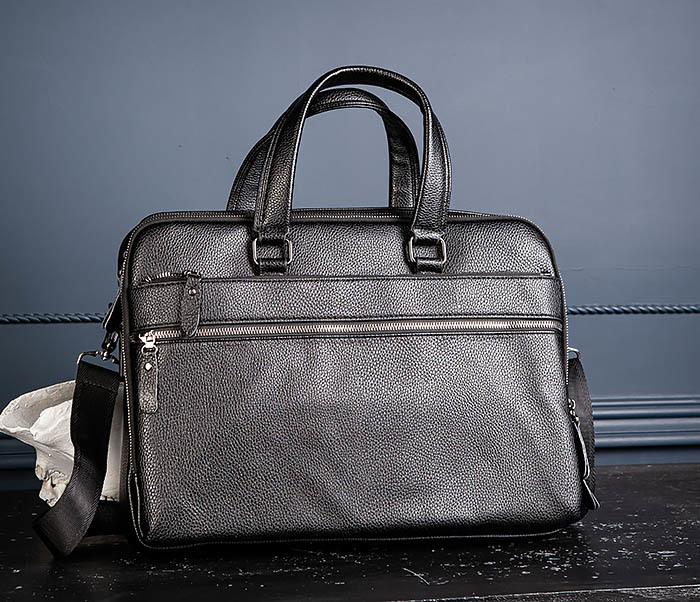 BAG535-1 Кожаная мужская сумка портфель фото 05