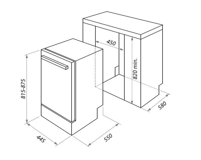 Встраиваемая посудомоечная машина Maunfeld MLP 08IM