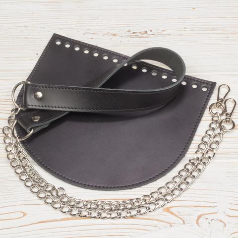 Комплект для сумки  прошитый черный