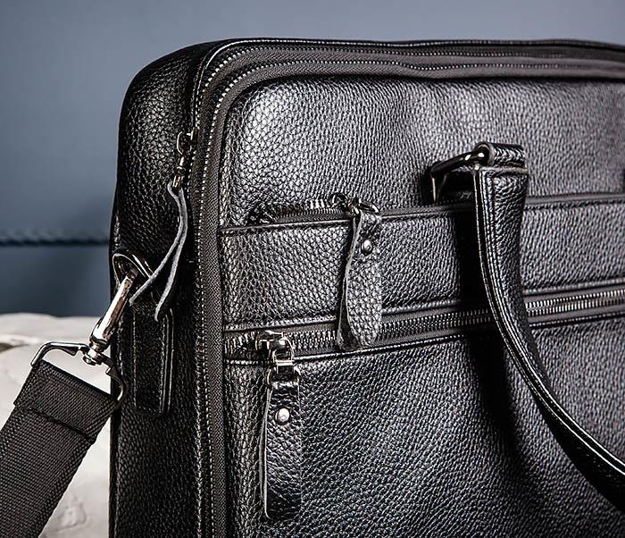 BAG535-1 Кожаная мужская сумка портфель фото 06