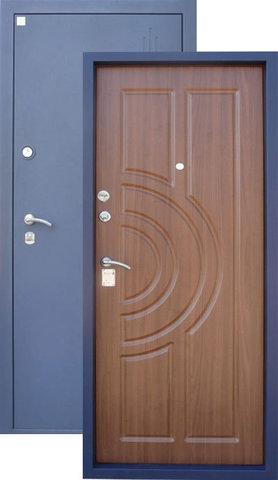 Дверь входная Алмаз Малахит, 2 замка, 1,5 мм  металл, (серебро+итальянский орех)