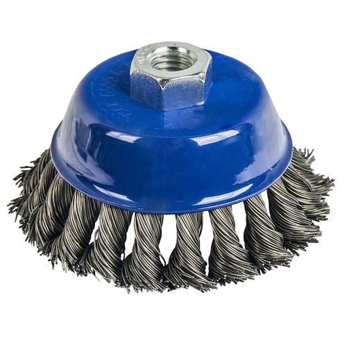 Кордщетка для МШУ чашеобразная витая ПРАКТИКА 90 мм М14 (032-478)