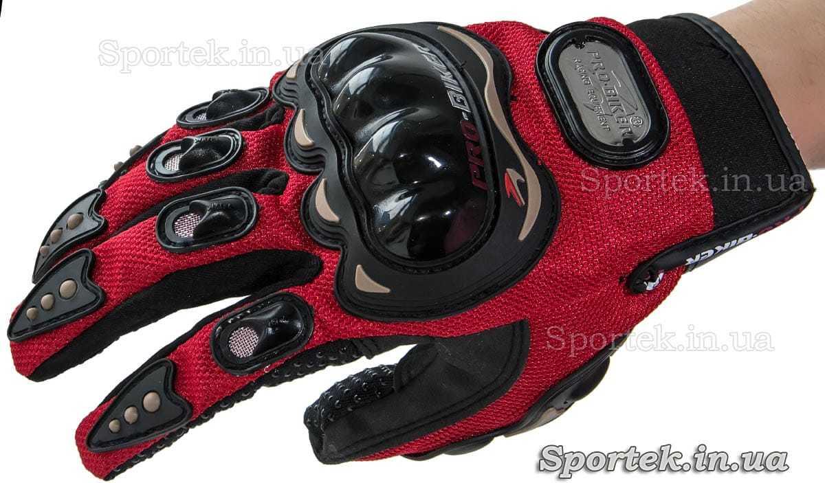 Перчатки Pro-Biker (Про-байкер) для велосипедистов роллеров и мотоциклистов вид сверху