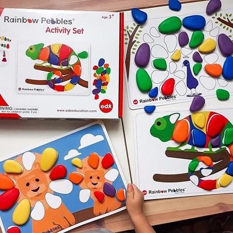 Набор Радужные камешки с карточками Edx education