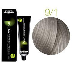 L'Oreal Professionnel INOA 9.1 (Очень светлый блондин пепельный) - Краска для волос