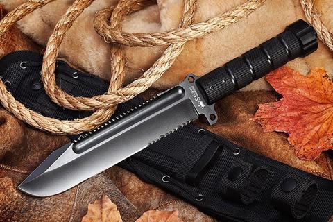 Охотничий нож Survivalist D2 Black Titanium