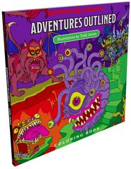 D&D - Outlined Coloring Book
