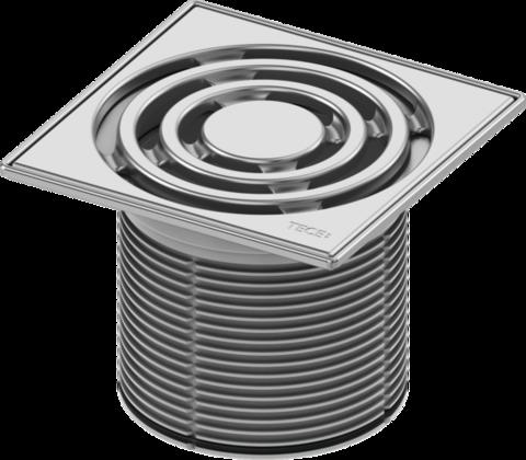 Декоративная решетка TECEdrainpoint S, 150 мм, в стальной рамке, с монтажным элементом