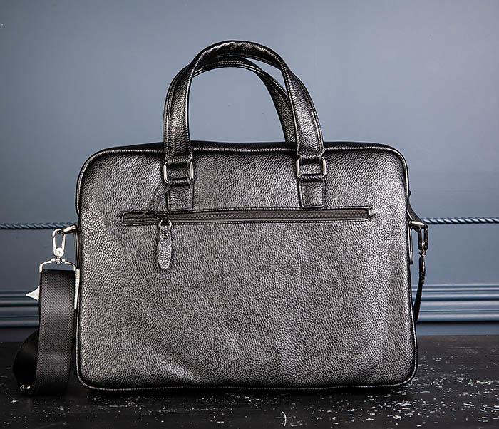 BAG535-1 Кожаная мужская сумка портфель фото 08