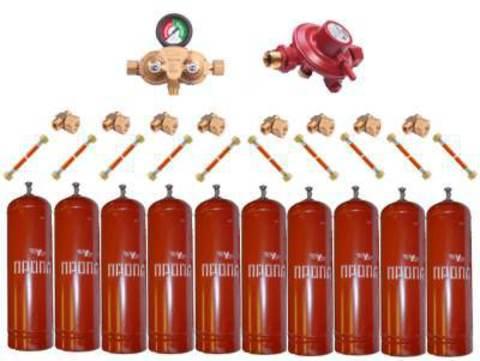 Установка GOK на 10 металлических баллонов (Премиум)