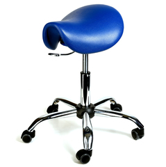 Ортопедический стул-седло хром