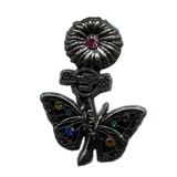 Значок Hard Rock Cafe - Butterfly - Flower