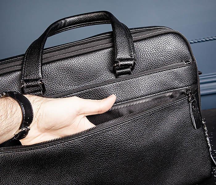 BAG535-1 Кожаная мужская сумка портфель фото 09