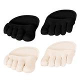 Полуносочки 5 пальцев с подушечкой под передний отдел стопы