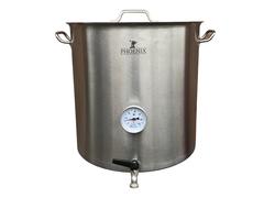 Сусловарочный котел 21,2 л Пивоварня.ру с краном и термометром (уценка)