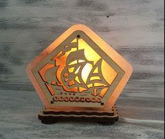 Солевая лампа Кораблик 1,3 кг
