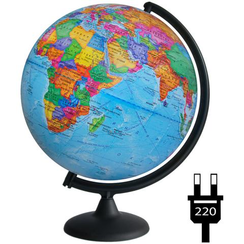 Глобус политический Глобусный мир, 32см, с подсветкой на круглой подставке