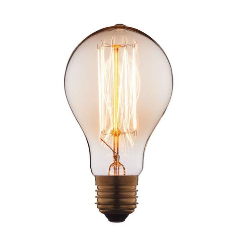 Лампа накаливания E27 40W груша прозрачная 7540-SC