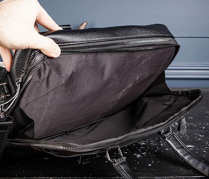 BAG535-1 Кожаная мужская сумка портфель фото 11