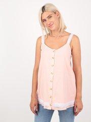 Евромама. Блуза-топ для беременных и кормящих батистовая, персик