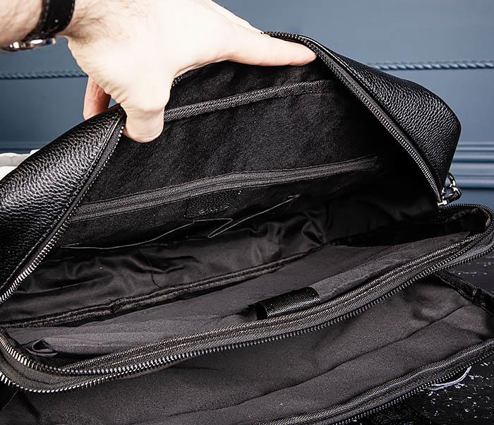 BAG535-1 Кожаная мужская сумка портфель фото 12