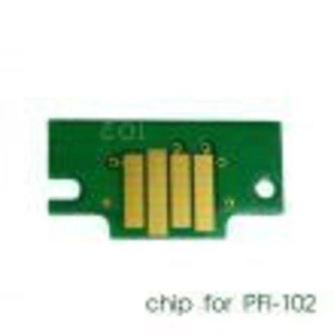 Чип для картриджей PFI-102Y для Canon imagePROGRAF iPF605, iPF710, iPF750, iPF760, iPF765, iPF510, iPF500, iPF600, iPF610, iPF650, iPF700, iPF720, Yellow (желтый) совместимый