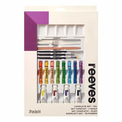 Набор для художника, 29 предметов ( масляные краски - 6 х 10 мл, кисти -3 шт, масляная пастель - 12ц