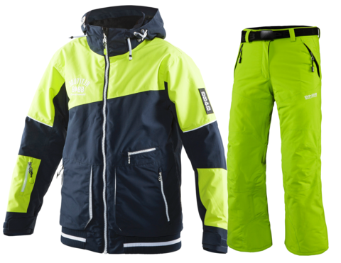 Детский горнолыжный костюм 8848 Altitude Meganova/Tomber (lime)