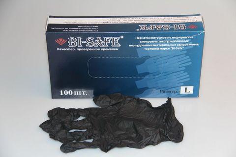 Черные перчатки Bi-Safe (50пар)