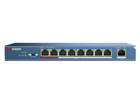 Неуправляемый PoE-коммутатор Hikvision DS-3E0109P-E