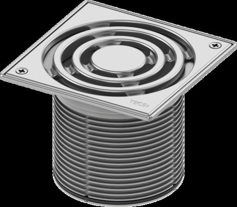 Декоративная решетка TECEdrainpoint S, 150 мм, в стальной рамке, с фиксаторами, с монтажным элементом