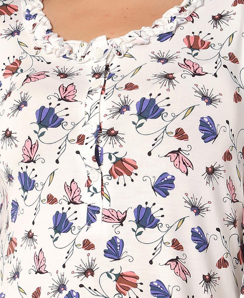 Сорочка с бабочками Bacirubati