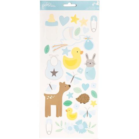 Стикеры -коллекция Lullaby Double- Puffy Stickers - Pebbles