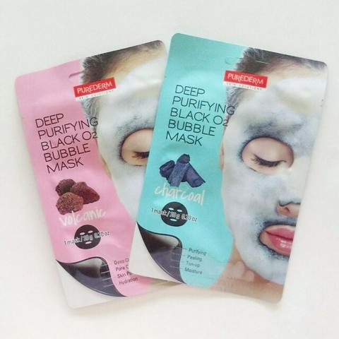 Маска для лица кислородная Purederm Deep Purifying Black O2 Bubble Mask