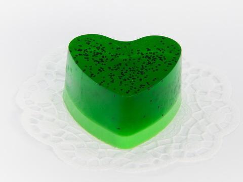 Мыльное ассорти/сердце: КИВИ, 90g TM ChocoLatte