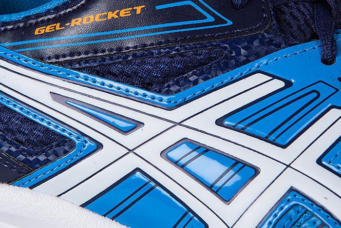 Мужские волейбольные кроссовки Асикс гель рокет (B405N 4101) синие фото