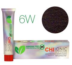 CHI Ionic 6W  (Светлый теплый коричневый) - стойкая краска для волос