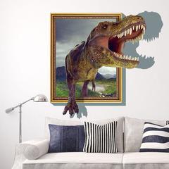 Парк юрского периода 3D наклейка Тираннозавр