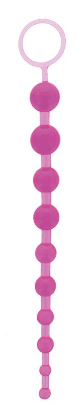 Анальные шарики, цепочки: Фиолетовая анальная цепочка ORIENTAL JELLY BUTT BEADS 10.5 PURPLE - 26,7 см.
