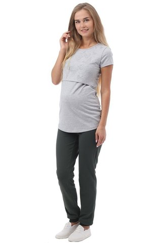 Брюки для беременных 10195 хаки