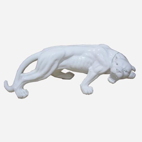 Статуэтка Decor Леопард большой белый 86516W