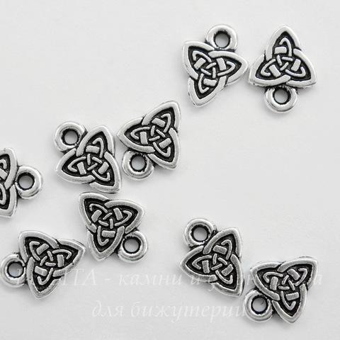 """Подвеска TierraCast """"Кельтская триада"""" (цвет-античное серебро) 10х8 мм"""