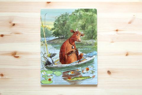 Пазл деревянный «Мама Му на рыбалке»